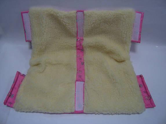Муфта для рук из меха для детской коляски и санок, фото 2