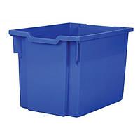 Пластиковый лоток F3 синий 312х427х300 мм без направляющих ,контейнер для школьной мебели