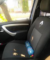 Чехлы DACIA Renault Logan MCV 5 (Дачия Логан) с2004г. УНИВЕРСАЛ 5 мест! Авто чехлы Логан.Prestige. Темно-серые