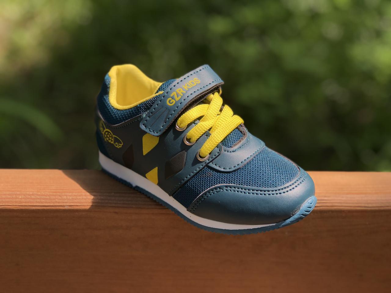 Детские текстильные кроссовки 73SMALLGREEN р. 21, 22, 23, 25 Зеленый с желтым
