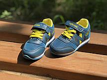 Детские текстильные кроссовки 73SMALLGREEN р. 21, 22, 23, 25 Зеленый с желтым, фото 2