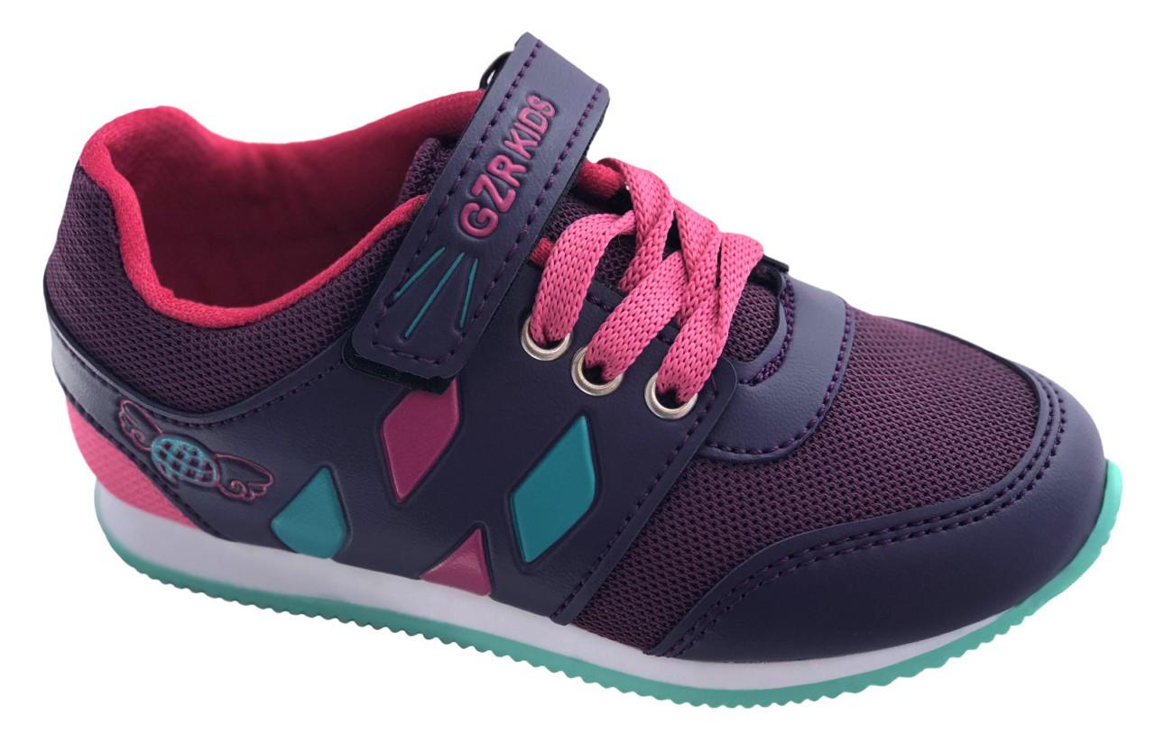Детские текстильные кроссовки 73SMALLFIOLET Фиолетовый