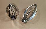Карниз для штор металевий ПАНТЕОН подвійний 19+19 мм 2.0 м нержавіюча Сталь, фото 2