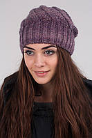 Стильна меланжева жіноча шапка в кольорах