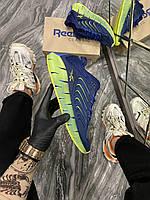 Кроссовки мужские Reebok Zig Kinetica Conor McGregor Blue (Синий). Стильные мужские кроссовки.