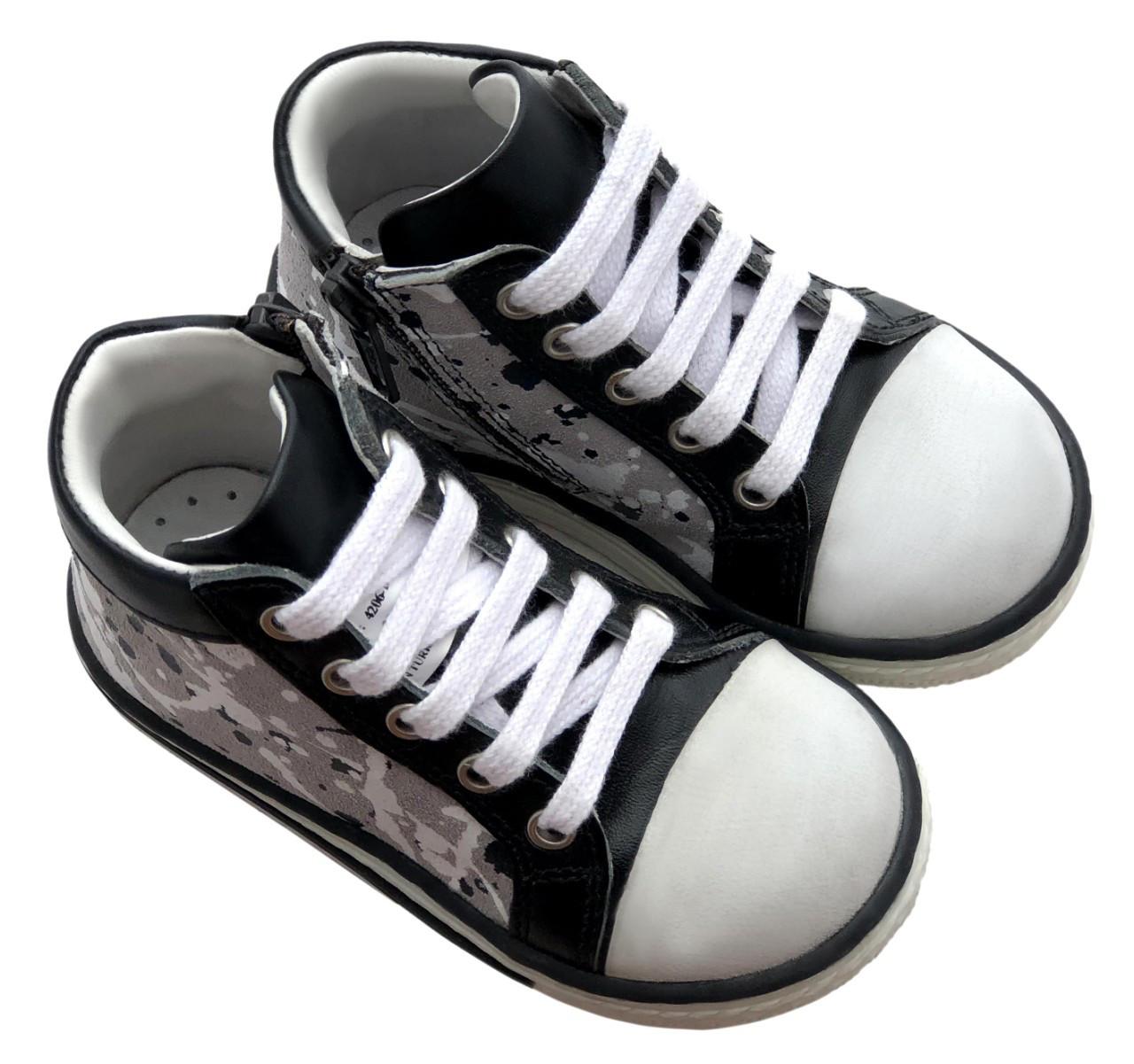 Ботинки Minimen 63SHNURKED Черный с белым
