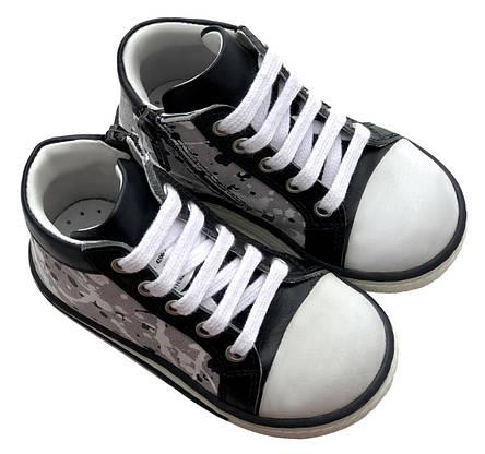 Ботинки Minimen 63SHNURKED Черный с белым, фото 2