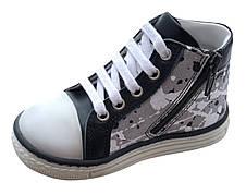 Ботинки Minimen 63SHNURKED Черный с белым, фото 3