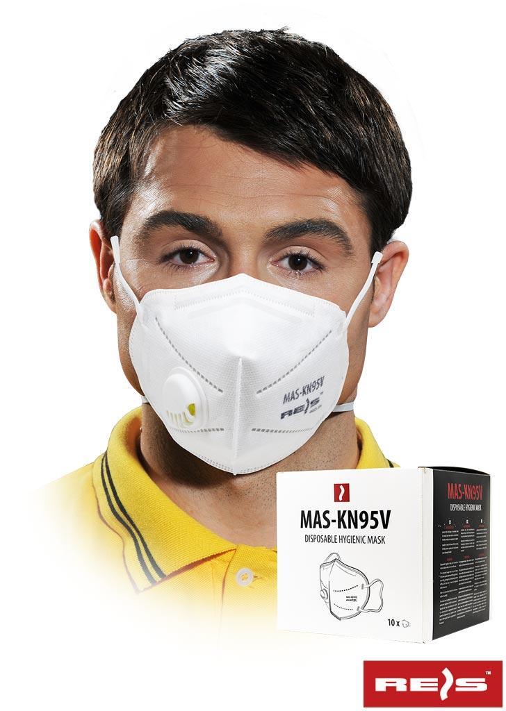 Гігієнічна маска з поліпропілену з п'ятьма шарами та клапаном MAS-KN95V W