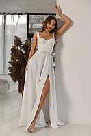 Вечернее, выпускное платье, платье молочного цвета