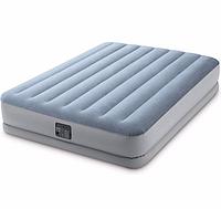 Надувная двухспальная кровать Intex 64168 со встроенным насосом 220 V (152*203*36 см)