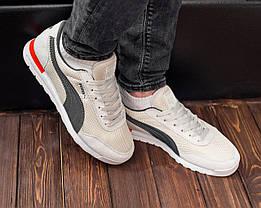 Кросівки чоловічі Puma Jogger молочний. Стильні чоловічі кросівки Пума молочного кольору., фото 2