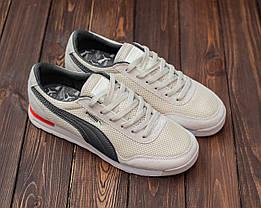 Кросівки чоловічі Puma Jogger молочний. Стильні чоловічі кросівки Пума молочного кольору., фото 3