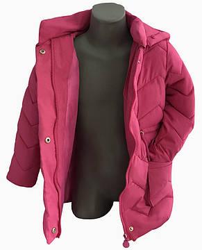 Детская демисезонная куртка для девочки 45MALINA Малиновый, фото 2