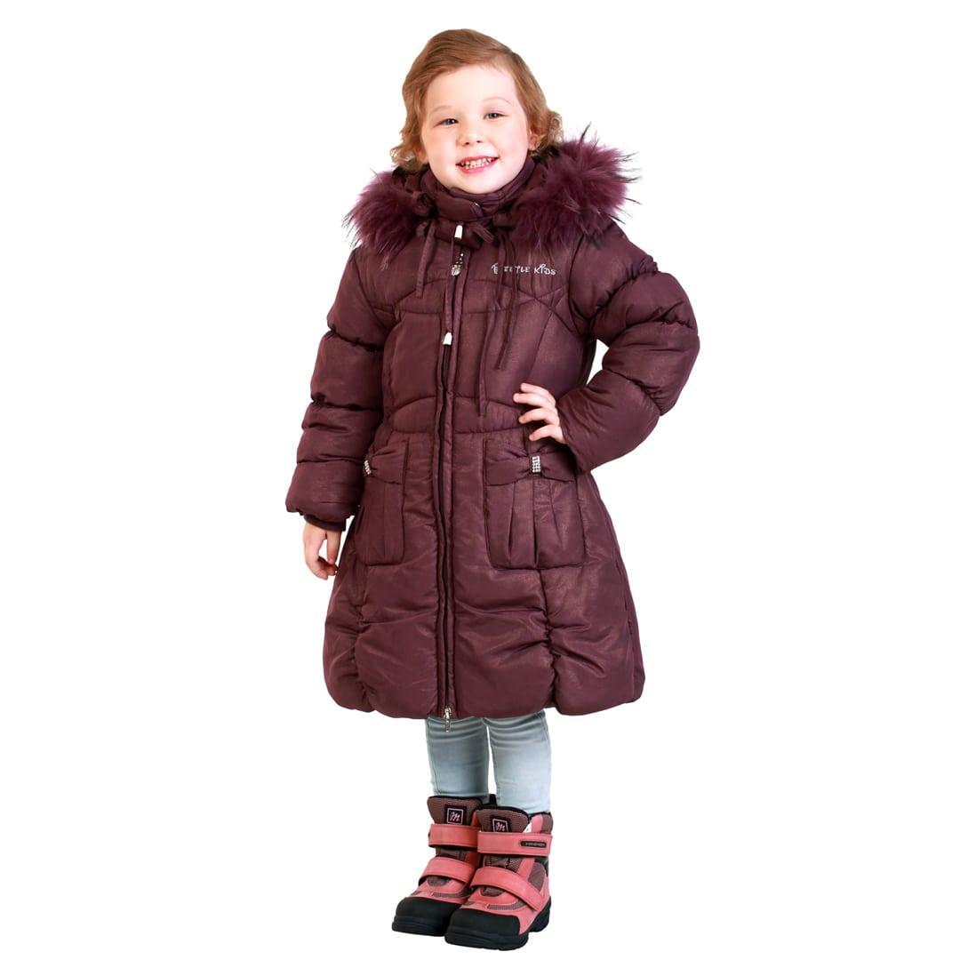 Детское зимнее пальто для девочки 166SLIVOVUY Сливовый