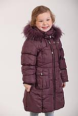 Детское зимнее пальто для девочки 166SLIVOVUY Сливовый, фото 3