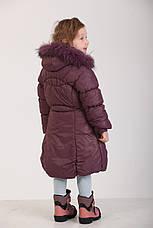 Детское зимнее пальто для девочки 166SLIVOVUY Сливовый, фото 2