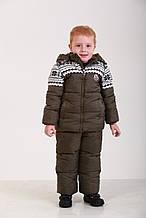 Детский зимний комбинезон для мальчика 76 XAKI Хаки
