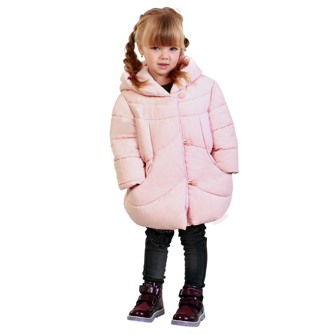 Детская демисезонная куртка для девочки 150ROZOVYY Розовый