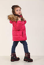Детская зимняя куртка для девочки 235KRASNAY Красный, фото 3