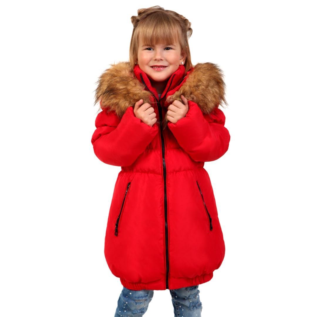 Детское пальто на пуху для девочки 29KRASNAY Красная