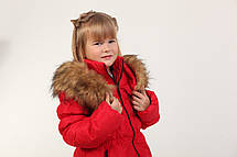Детское пальто на пуху для девочки 29KRASNAY Красная, фото 2