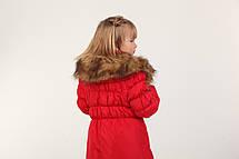 Детское пальто на пуху для девочки 29KRASNAY Красная, фото 3