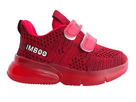 Детские текстильные кроссовки 69RED Красный
