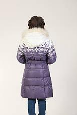 Детское зимнее пальто для девочки 17SIRENEVOE Сиреневое, фото 3