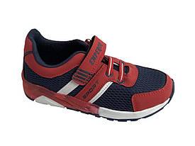 Детские текстильные кроссовки 73BLUERED Синий с красным