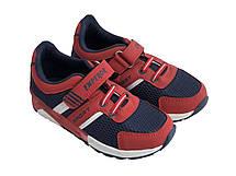 Детские текстильные кроссовки 73BLUERED Синий с красным, фото 2