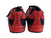 Детские текстильные кроссовки 73BLUERED Синий с красным, фото 3