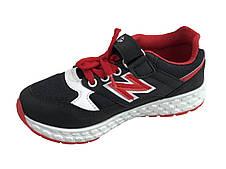 Детские текстильные кроссовки 73BLACKREDN Черный с красным, фото 2