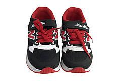 Детские текстильные кроссовки 73BLACKREDN Черный с красным, фото 3