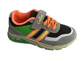 Детские текстильные кроссовки 73GRAYORANGE Серый с оранжевым