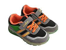 Детские текстильные кроссовки 73GRAYORANGE Серый с оранжевым, фото 2