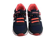 Детские текстильные кроссовки 73SINIYROSE Синий с розовым, фото 3
