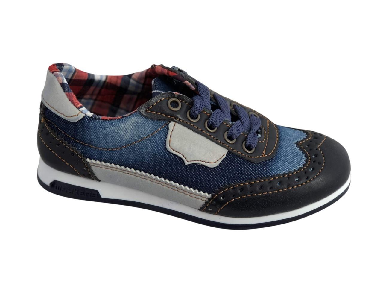 Текстильные кроссовки 73DJEANS Синий джинс