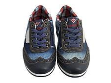 Детские текстильные кроссовки 73BIGJEANS Синий джинс, фото 3
