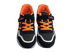 Детские текстильные кроссовки 73GREYSINIY Серый с синим, фото 3