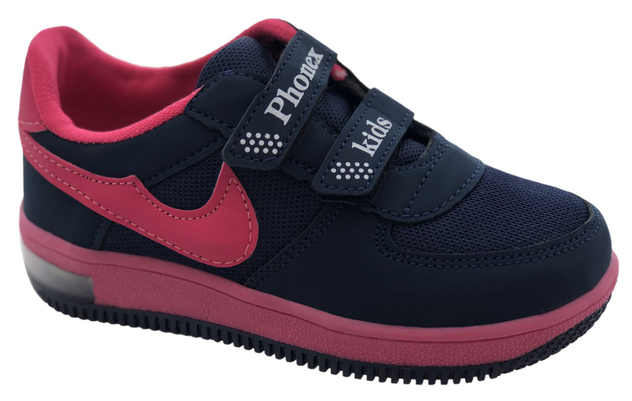 Детские текстильные кроссовки 73ROSE Синий с розовым