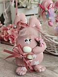 Яйцо пасхальное Кролик, Н-18-20 см, 125/95 грн,(за 1 шт + 30 грн) подвеска на корзину или заготовка для венка., фото 7