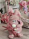Яйцо пасхальное Кролик, Н-18-20 см, 125/95 грн,(за 1 шт + 30 грн) подвеска на корзину или заготовка для венка., фото 3