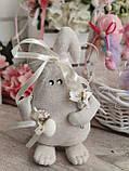 Яйцо пасхальное Кролик, Н-18-20 см, 125/95 грн,(за 1 шт + 30 грн) подвеска на корзину или заготовка для венка., фото 4