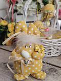 Яйцо пасхальное Кролик, Н-18-20 см, 125/95 грн,(за 1 шт + 30 грн) подвеска на корзину или заготовка для венка., фото 5