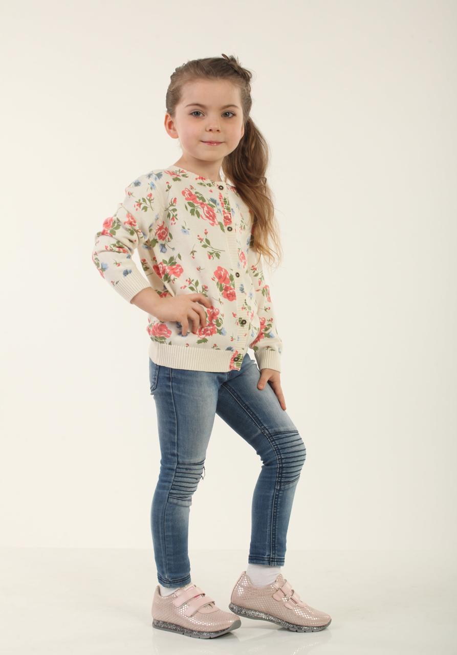 Детская кофта для девочки 12BEG Бежевая