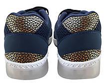 Детские текстильные кроссовки 73SINIYSETKA Синий, фото 3