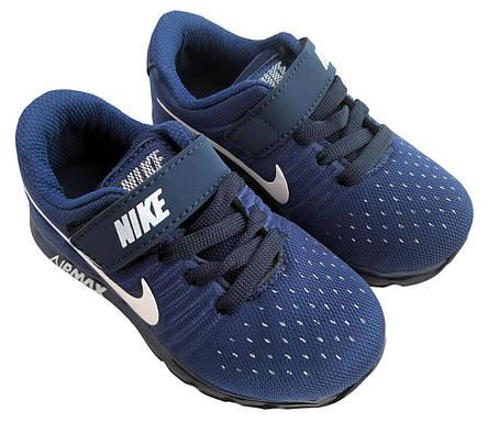 Детские текстильные кроссовки 73SINIYSHNUROK Синий, фото 2