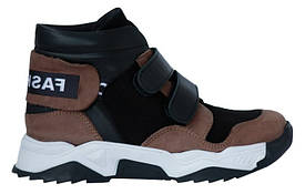 Ботинки Perlina 107KOR Коричневый с черным