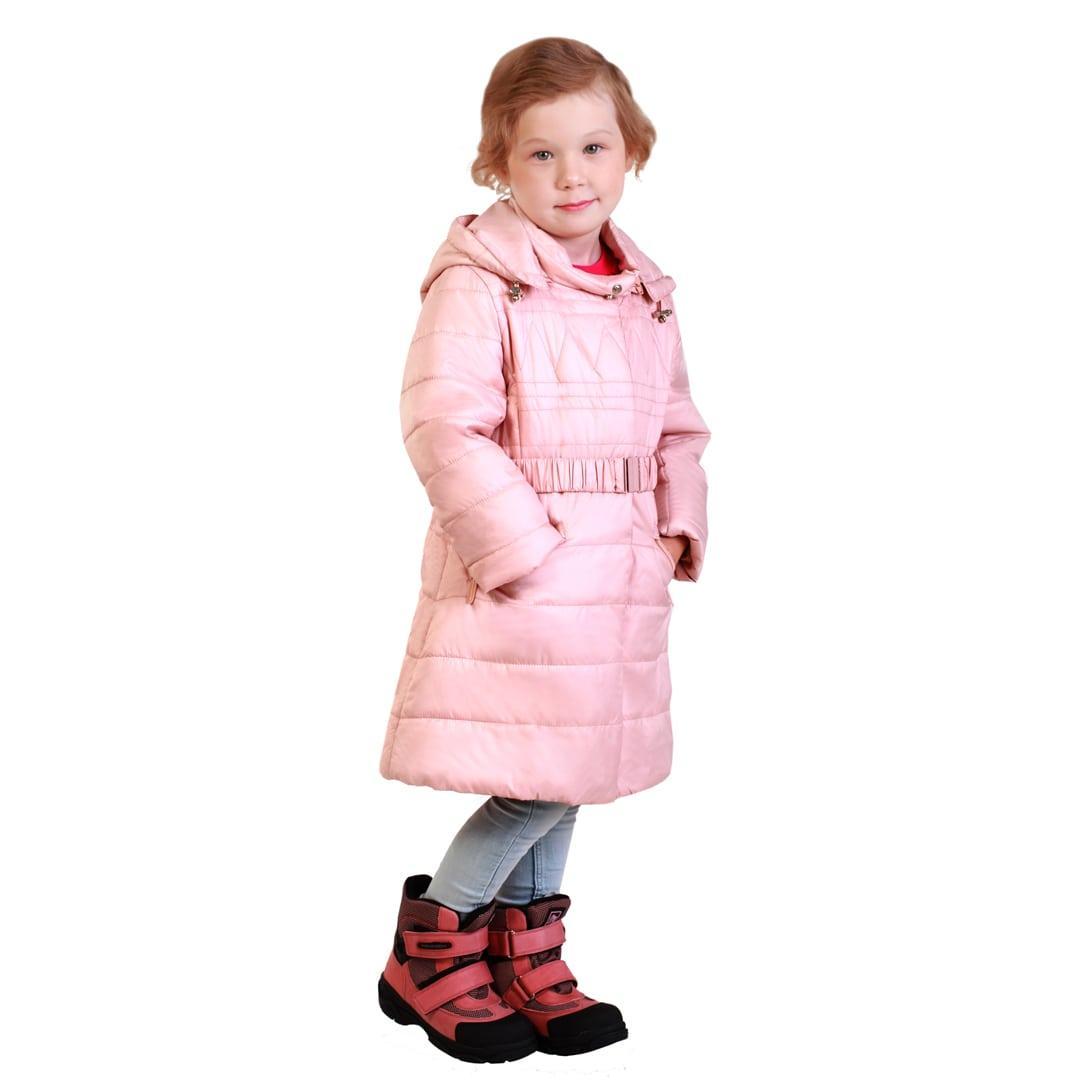 Детское демисезонное пальто для девочки 54PUDRA Пудра 146